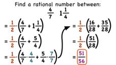 How Do You Find a Rational Number Between Two Fractions? Video