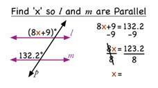 How Do You Find a Value for x that Makes Two Lines Parallel? Video