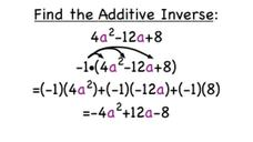 How Do You Find the Additive Inverse of a Polynomial? Video