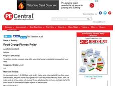 Food Group Fitness Relay Lesson Plan