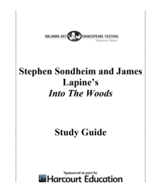 Into The Woods: Study Guide Activities & Project