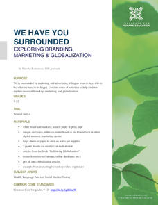 We Have You Surrounded: Exploring Branding, Marketing and Globalization Lesson Plan