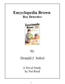 Encyclopedia Brown, Boy Detective: Novel Study Study Guide