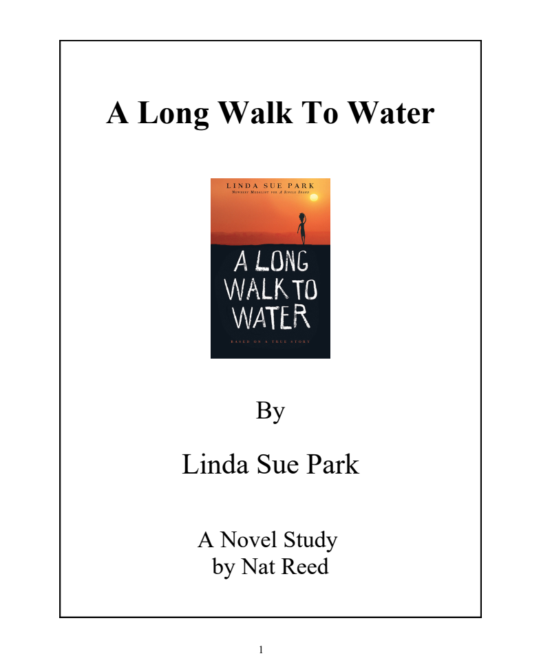 A Long Walk To Water: Novel Study Study Guide for 4th ...
