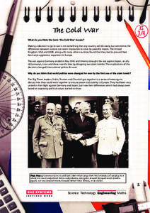 The Cold War Activities & Project