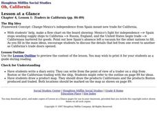 Houghton Mifflin Social Studies Oh, California Lesson Plan