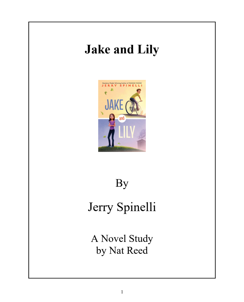 Jake and Lily: Novel Study Study Guide