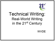 Technical Writing: Real-World Writing in the 21st Century Presentation