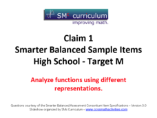 Smarter Balanced Sample Items: High School Math – Target M Assessment