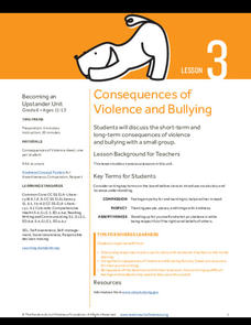 Consequences of Violence and Bullying Lesson Plan