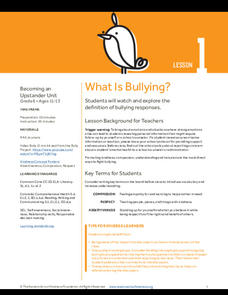 What Is Bullying? Lesson Plan