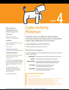 Cyber-bullying Roleplays Lesson Plan