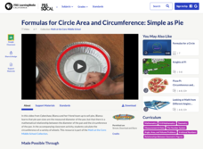 Formulas for Circle Area and Circumference: Simple as Pie Video