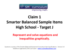 Smarter Balanced Sample Items: High School Math – Target J Assessment
