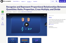Recognize and Represent Proportional Relationships between Quantities: Ratio, Proportion, Cross Multiply, and Divide Video