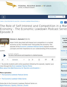 Episode 3: The Role of Self-Interest and Competition in a Market Economy Audio