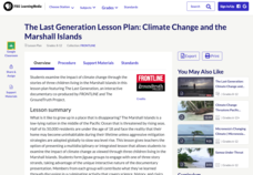The Last Generation: Climate Change and the Marshall Islands Lesson Plan
