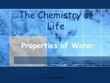 Water, Solutions, pH, and Buffers Presentation