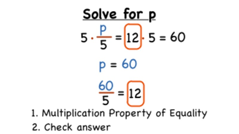 How Do You Solve an Equation Using Multiplication? Video