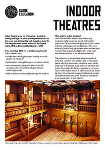 Fact Sheet: Indoor Theatres Handouts & Reference