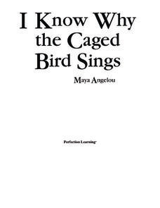 I Know Why the Caged Bird Sings Activities & Project