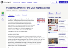Malcolm X: Minister and Civil Rights Activist Lesson Plan