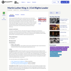 Martin Luther King Jr.: Civil Rights Leader Lesson Plan