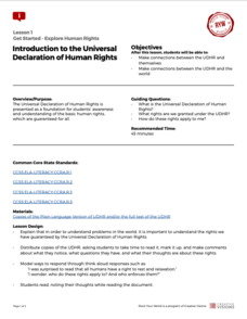 Introduction to the Universal Declaration of Human Rights Lesson Plan