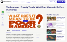 The Lowdown — Poverty Trends: What Does It Mean to Be Poor in America? Interactive