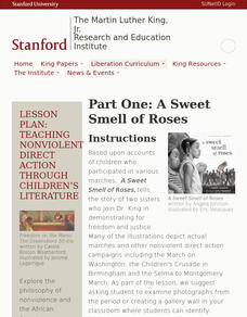 Part One: A Sweet Smell of Roses Lesson Plan