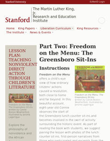 Part Two: Freedom on the Menu—The Greensboro Sit-Ins Lesson Plan