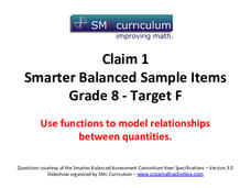 Smarter Balanced Sample Items: 8th Grade Math – Target F Assessment