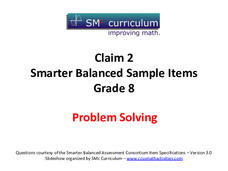 """Grade 8, Claim 2 & 4: Problem Solving & Communication Reasoning Supports"""