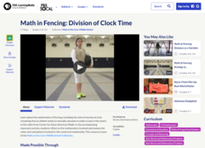 Math in Fencing: Division of Clock Time Video