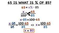 How Do You Use a Proportion to Find What Percent a Part is of a Whole? Video