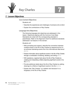 Ray Charles Lesson Plan