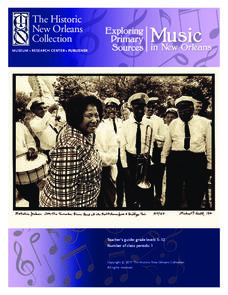 Exploring Primary Sources: Music in New Orleans Lesson Plan