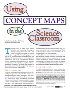 Using Concept Maps in the Science Classroom Professional Document