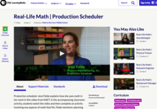 Real-Life Math — Production Scheduler Video