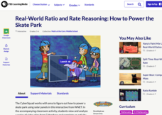 Real-World Ratio and Rate Reasoning: How to Power the Skate Park Interactive