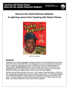 Teaching with Historic Places: Discover the Jackie Robinson Ballpark Lesson Plan