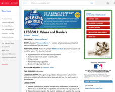 Lesson 2: Values and Barriers Lesson Plan