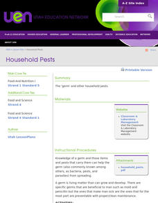 Household Pests Lesson Plan