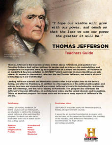 Thomas Jefferson: Teachers Guides Lesson Plan