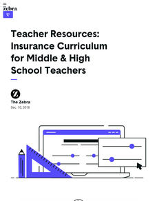 Insurance Curriculum for Middle and High School Teachers Lesson Plan
