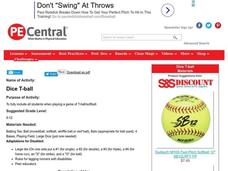 Dice T-ball Lesson Plan