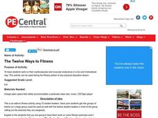 The Twelve Ways to Fitness Lesson Plan