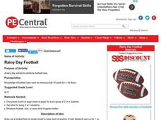 Rainy Day Football Lesson Plan