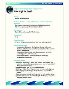 How High is That? Lesson Plan