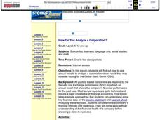 How Do You Analyze a Corporation? Lesson Plan